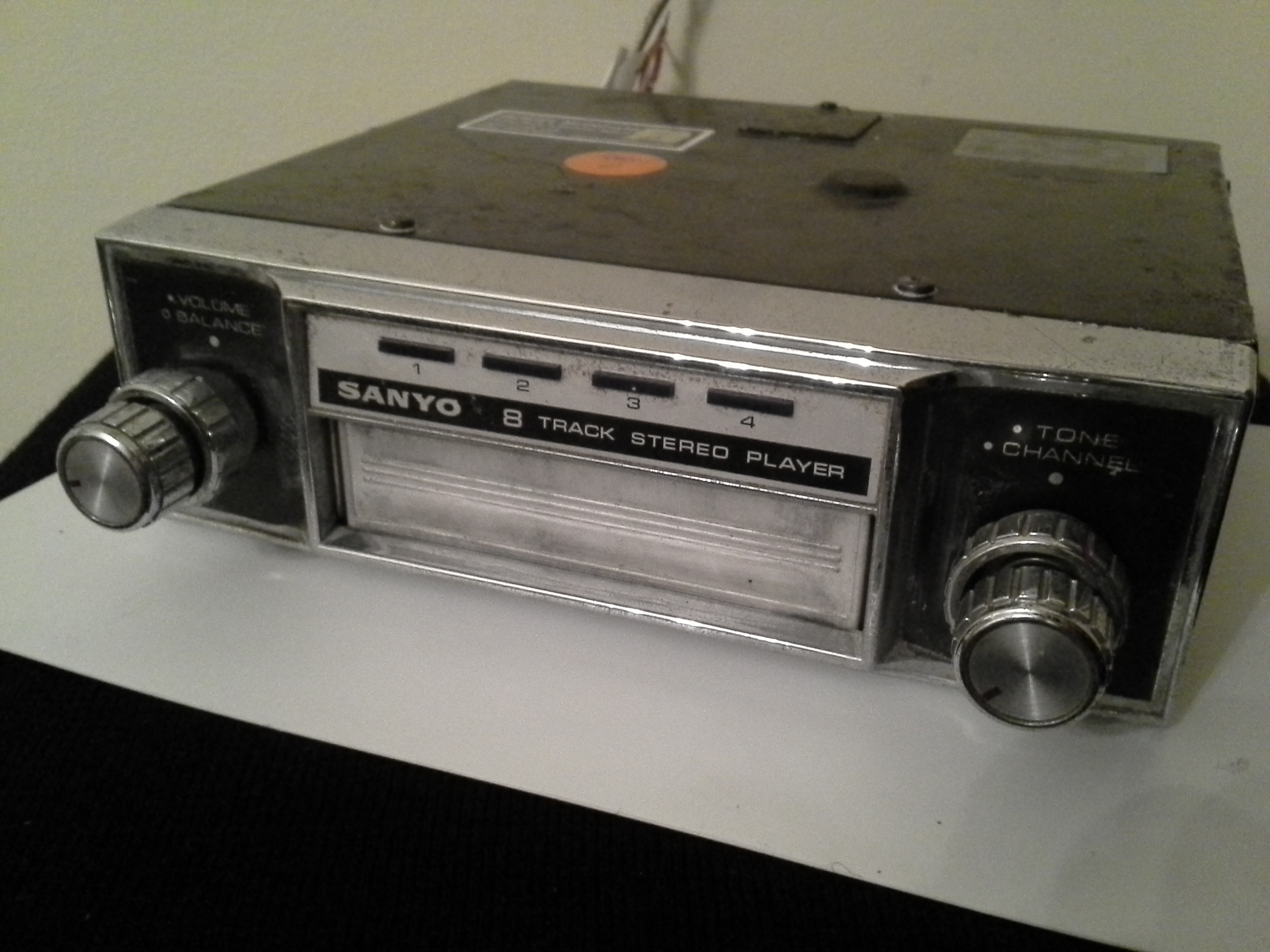 Aftermarket 8-Track Player, serviced and tested